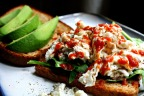 Egg White, Spinach & Avocado Sandwich.