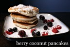 Pancake Saturday: Berry Coconut Pancakes.
