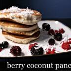 Pancake Saturday: Berry Coconut Pancakes.