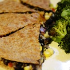 Black Bean and Goat Cheese Quesadillas.